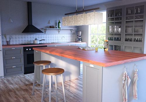 Kök i 3D, Modellering, texturering och ljussättning: Fredrik Strandberg