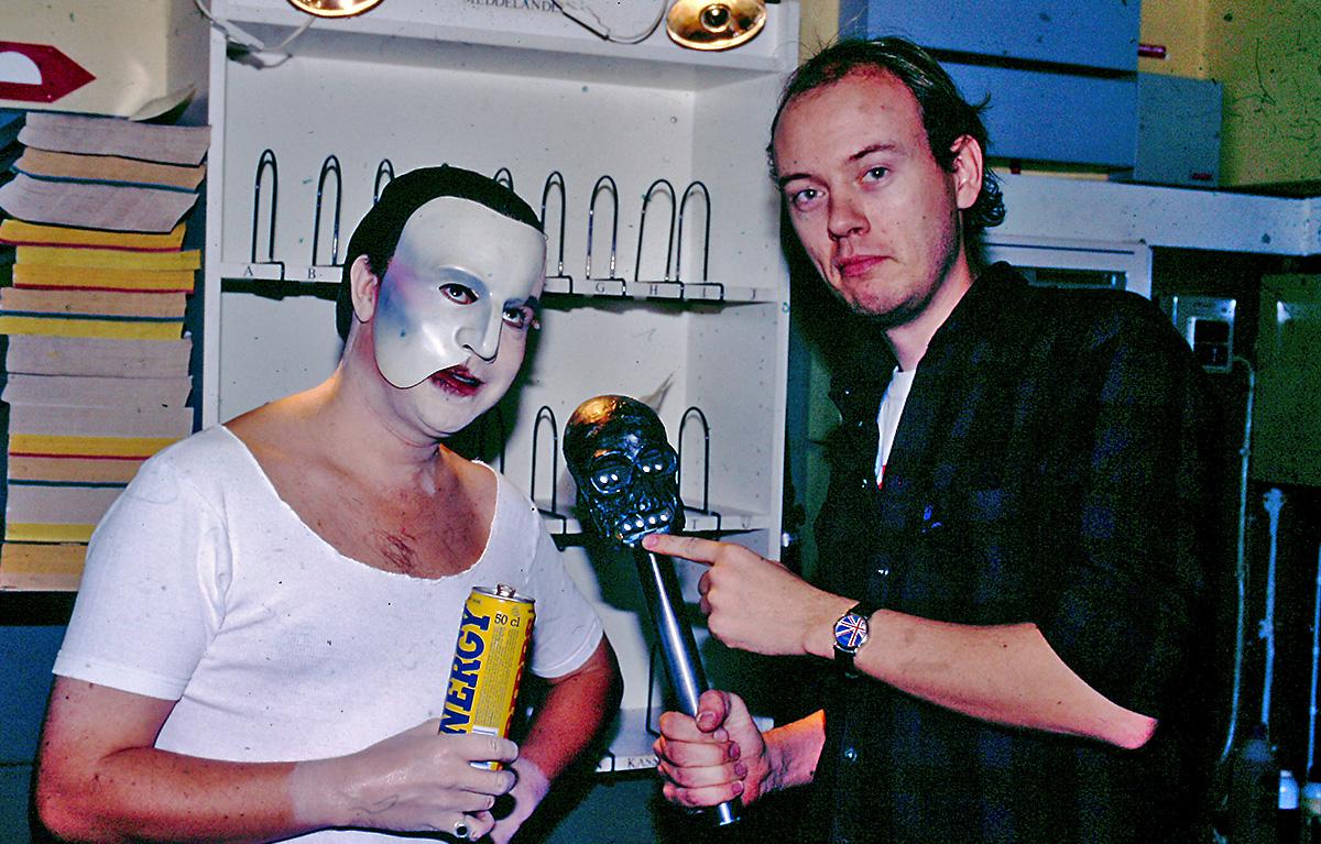 Mikael Samuelsson (Fantomen) och Fredrik Strandberg på Oscarsteatern.