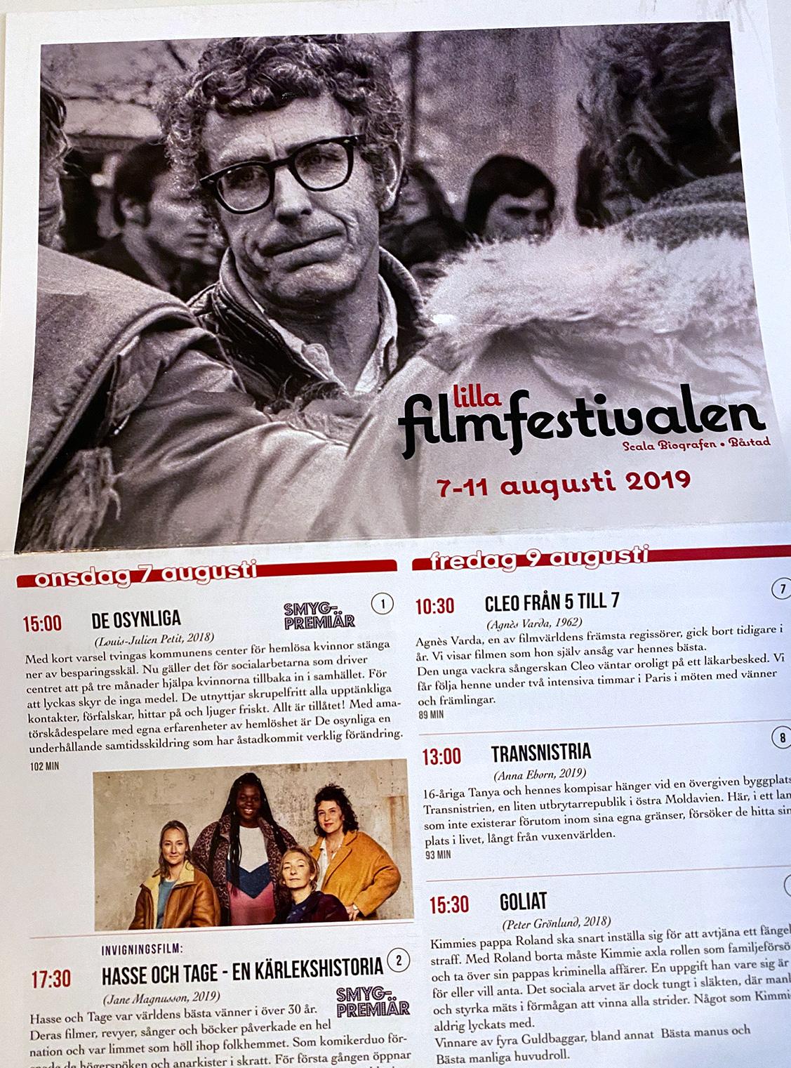 Programdesign, Lilla Filmfestivalen i Båstad, 2019 - Fredrik Strandberg