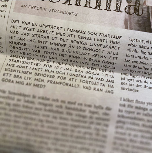 Tidningslayout: Fredrik Strandberg